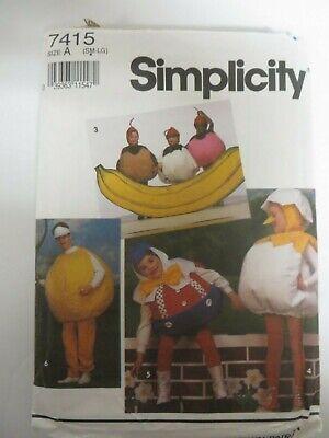 Vtg 90's Simplicity 7415 HUMPTY DUMPTY Costume Sewing Patterns Child BASEBALL - Humpty Dumpty Costume Baby