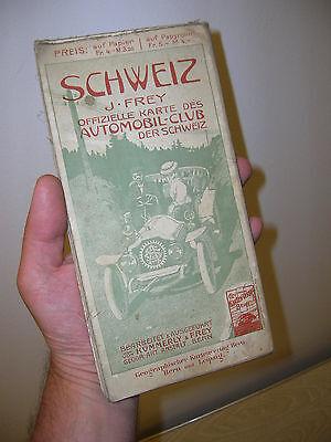 RAR - Originale Straßenkarte Landkarte vom Automobil Club SCHWEIZ um 1910 - RAR