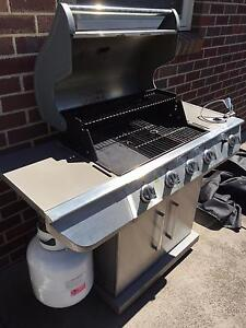 Four Burner BBQ with Side Burner - Good Condition - Pickup only Carnegie Glen Eira Area Preview