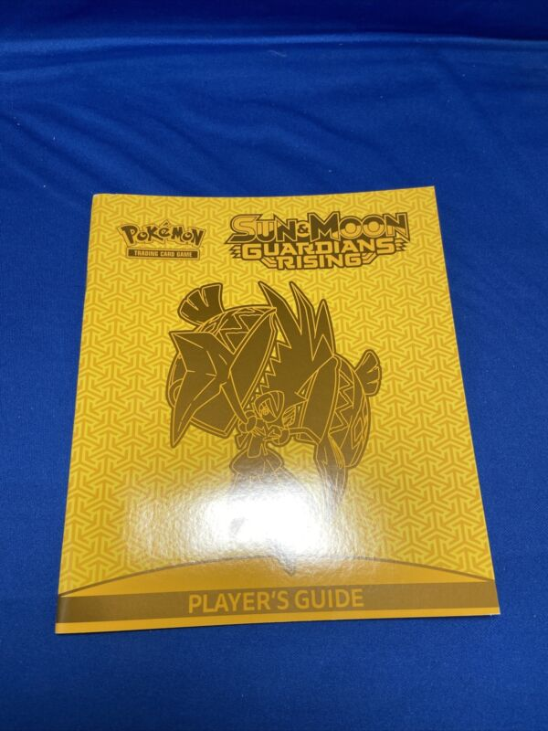 Pokemon TCG - Sun & Moon Guardians Rising Players Guide Yellow & Orange