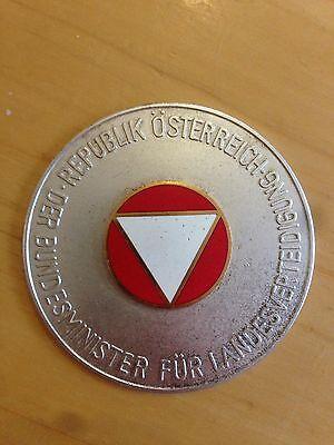 Österreichisches der Bundesminister für Landesverteidigung Autoplakette, Badge