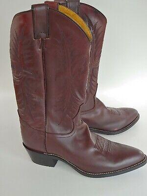 Tony Lama # 2996 Dark Mahogany Leather Cowboy Western Boots Men's Size 10.5 D