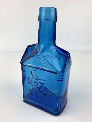 "Vintage WHEATON Blue 1775 Paul Revere 8"" Bottle"