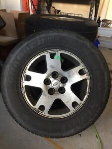 4 2005 Ford Escape tires and  rims