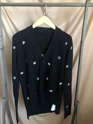 Ader Error Embroidered Cardigan, Black, Size A1