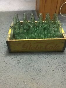 Antique globe crate and bottles
