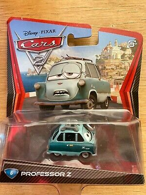 Disney Pixar Cars 2 Professor Z #6 Die cast Toy Model Car 1:55 Mattel