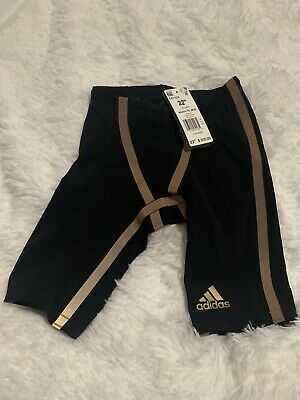 """Adidas Swim Adizero XX Jammer $350 Tech Swimsuit EK1328 Size 22"""" New"""