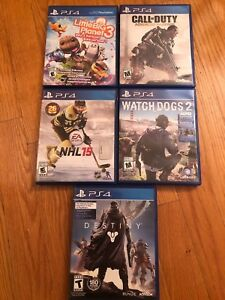 PS4 used games.