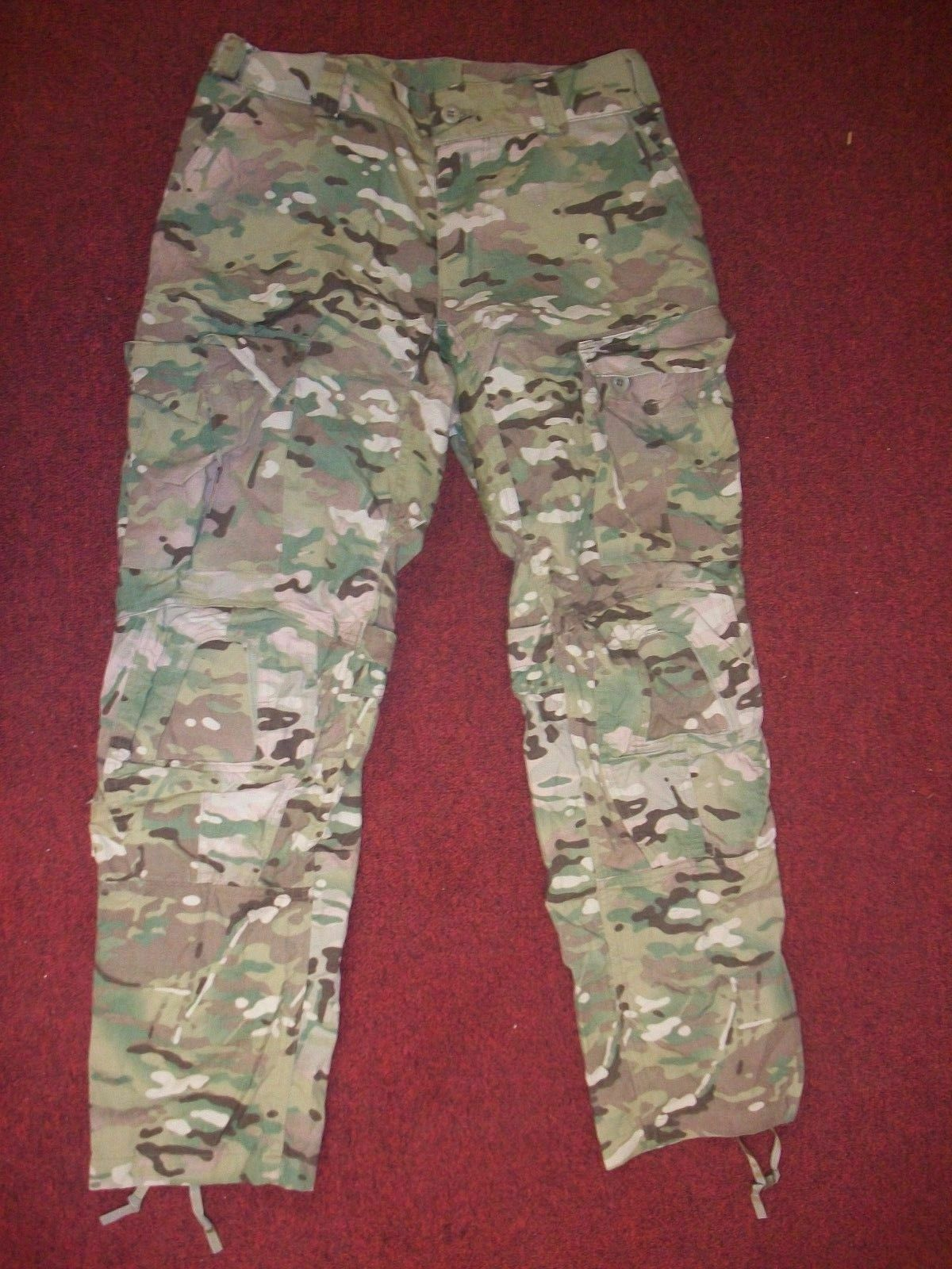US ARMY MULTI-CAM  ARMY COMBAT PANTS CRYE PRECISION KNEE PADS SLOTS MEDIUM REG