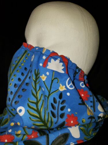 WOODSTOCK Floral Gaiter 2 Layers Reusable, Washable, Adjustable. Made In  - $9.00