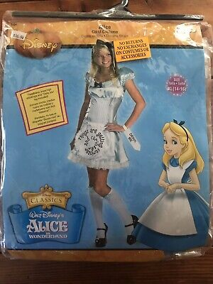Alice In Wonderland Childrens Costumes (NEW Disney Alice  in Wonderland  Childrens Costume XL)
