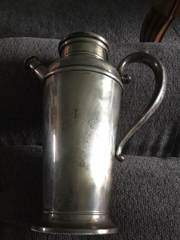"""Sterling Silver 11"""" Martini Shaker #829 - 872.2 Grams Not Weighted"""