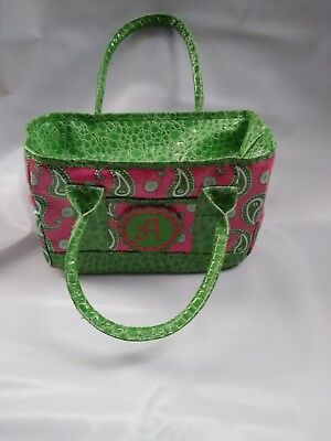 MSC Main Street Collection Lime Green/Pink Monogram