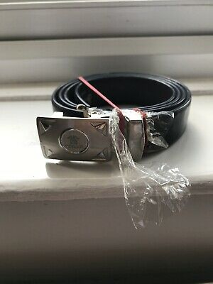 Versace Mens Leather Black Belt