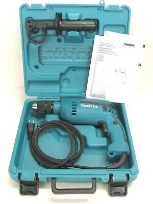 New Makita 58 Electric Hammer Drill W Case Keyless Chuck Hp1641k