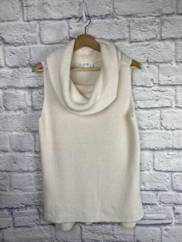 Loft Women s Cream Sleeveless Cowl Neck Sweater, Small - $18.99