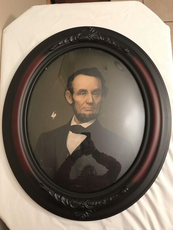 Abraham Lincoln Portrait Warranted Oil Colors Original print Untouched