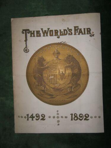 1889 Hon John Quinn Worlds Fair 1492-1892 To Senators/H.O.R 51st Congress RARE