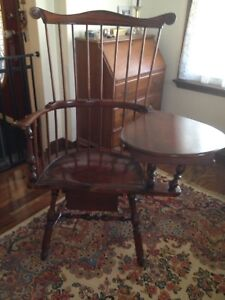 D.R. Dimes Left Handed Writing Arm Comb Back Windsor Chair
