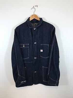 Warehouse Japan Slubby Wabash Denim Chore Jacket Coat 38 Railroader