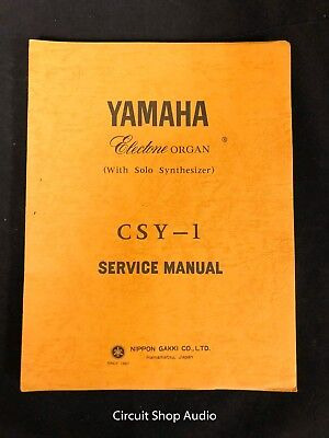 Original Yamaha CSY-1 Electone Organ Service Manual, used for sale  Shipping to Canada