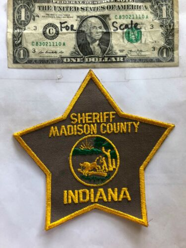 Madison County Indiana Police Patch Sheriff Un-sewn great shape