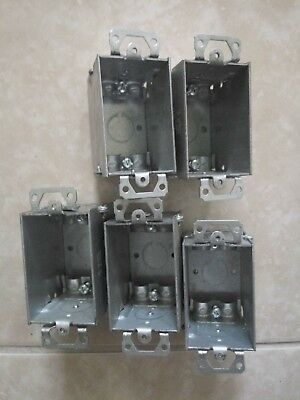 Raco 519 Electrical Switch Box Steel 3 X 2 X 2-12 Deep Lot Of 5