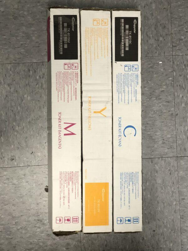 Genuine OEM Copystar TK-8519 Toner Set of 3 (C,M,Y) for CS5052ci/6052ci