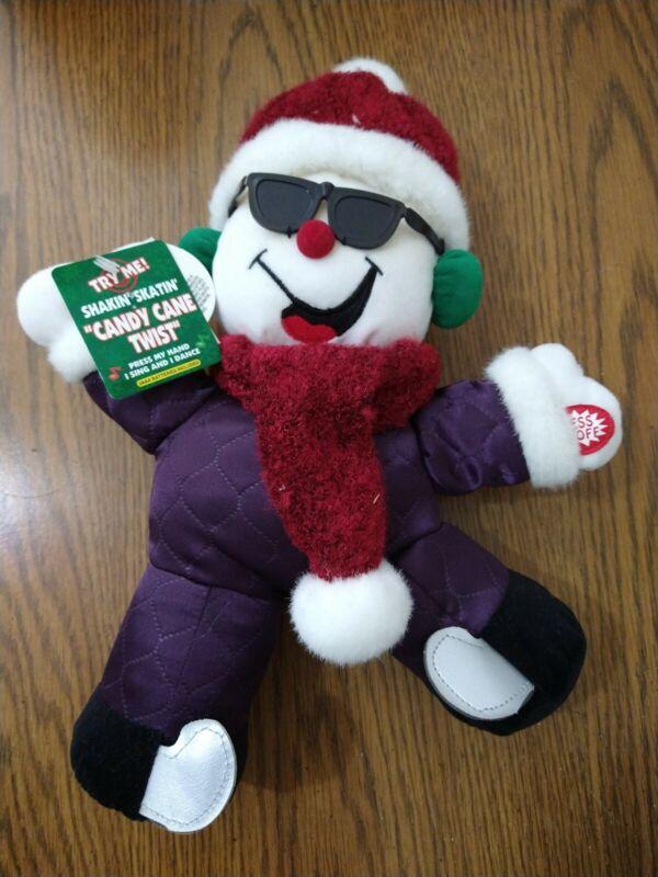 shakin skatin candy cane twist Christmas bear