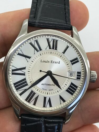 LOUIS ERARD 330 ASYMETRIQUE AUTOMATIC MENS 40mm SWISS MADE SERVICE JUST MADE