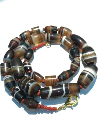 A Beautiful 900 years old Pre Angkor Agate beads necklace from Cambodia