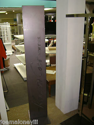 Display Retail Sign Tall Vertical Pillar Column Back Drop Kenneth Cole Sign