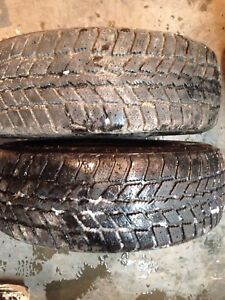 Two winter tires lots of tread 205/65r15 $50 text 902 717 0742