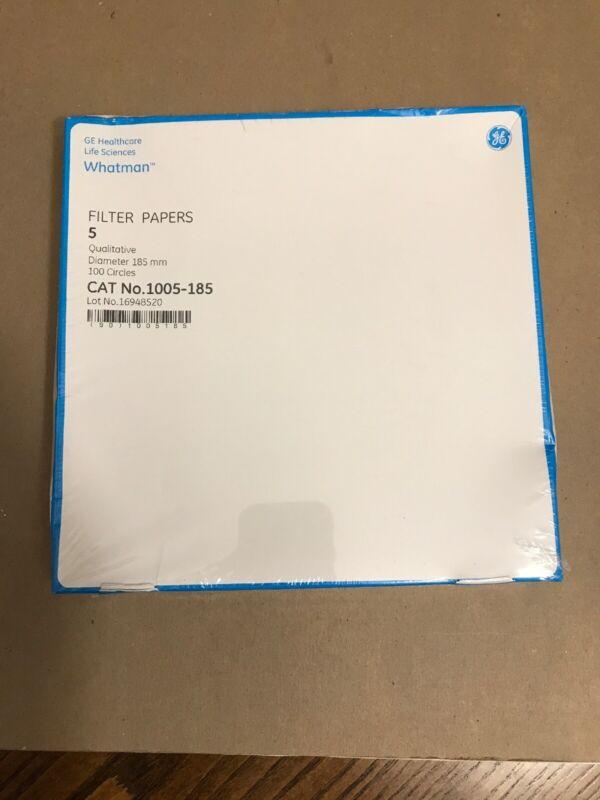 WHATMAN Grade 5 Qualitative Paper 185mm Diameter Pore Size 2.5um 1005-185 100/PK