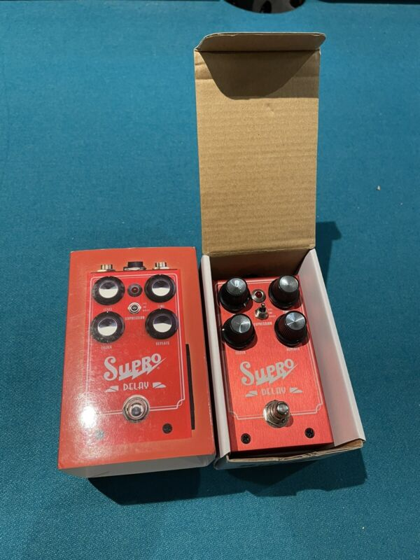 Supro Delay Echo Pedal - FREE Priority Mail Shipping