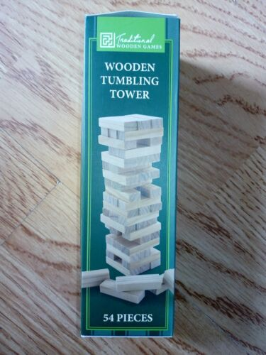 Small wooden Jenga style tumbling blocks