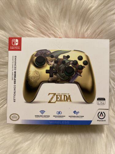 PowerA The Legend Of Zelda Gold Nintendo Switch Enhanced Wireless Controller New - $39.95