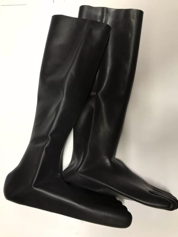 Latex Rubber Toes Socks fashion for catsuit 0.8mm Medium Size