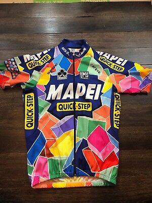 Santini SMS Mapel Quick-Step Short Sleeve Cycling Jersey Large COLLAR WEAR.   . 50 db3f84f5c