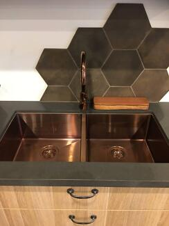 Unique range KITCHEN SINKS - Chrome, copper, Brass - all sizes -