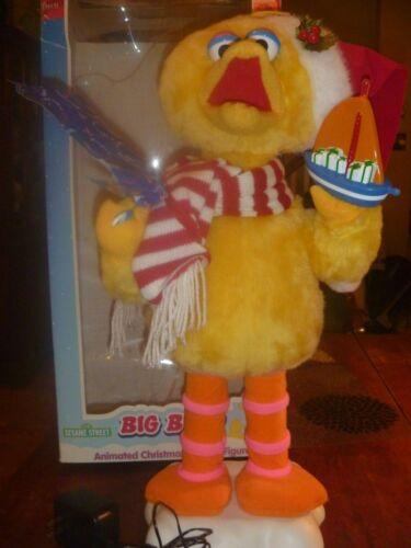 """Vintage Animated Big Bird Christmas Figure 20"""" With Box"""