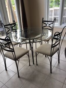 Ikea glass table and 4 chairs