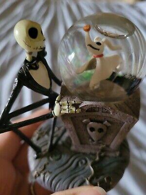 Disney The Nightmare Before Christmas Jack Skellington with Zero Snow Globe