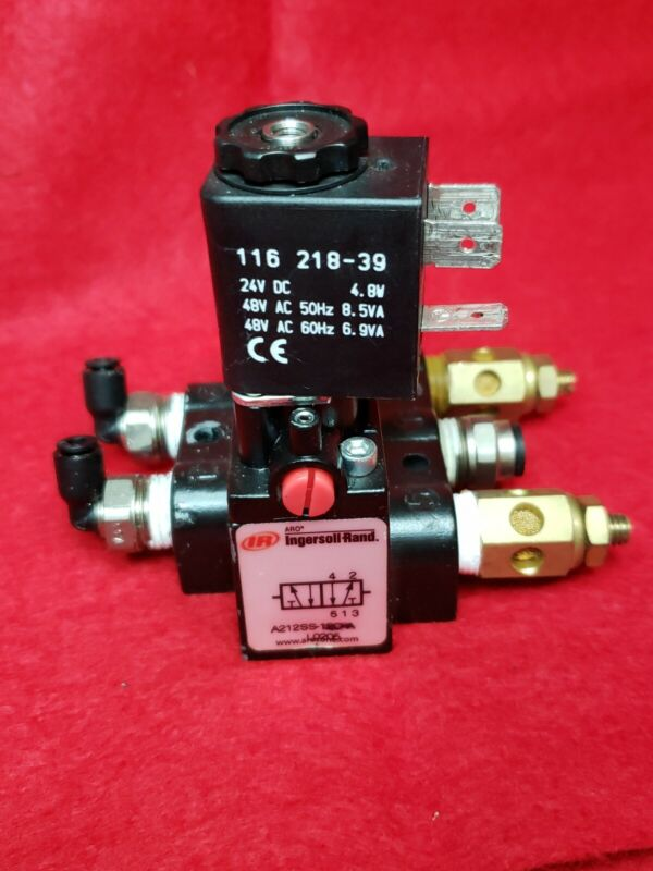 ARO INGERSOLL RAND SOLENOID AIR CONTROL VALVE. MODEL A212SS-120-A.