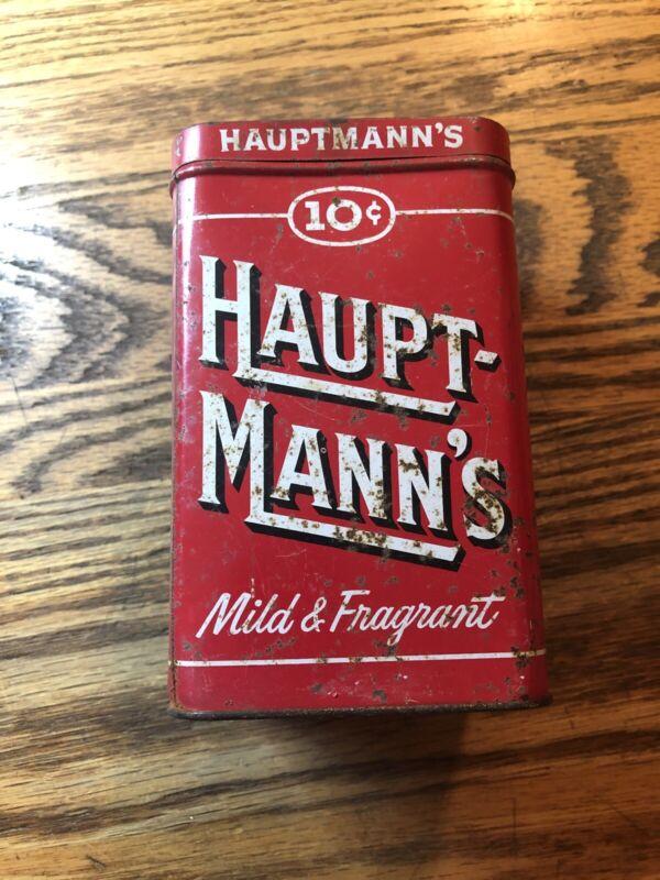 Old Hauptmann's Cigar Tin Hauptmann's Vintage Tobacco Box Cigars 10¢