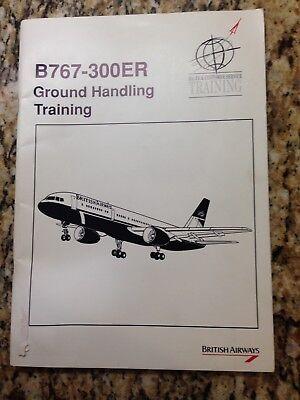 BOEING 767 ER GROUND HANDLING TRAINING BRITISH AIRWAYS BOOKLET