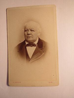 Ulm - alter Mann im Anzug - Portrait ca. 1860/70er Jahre / CDV