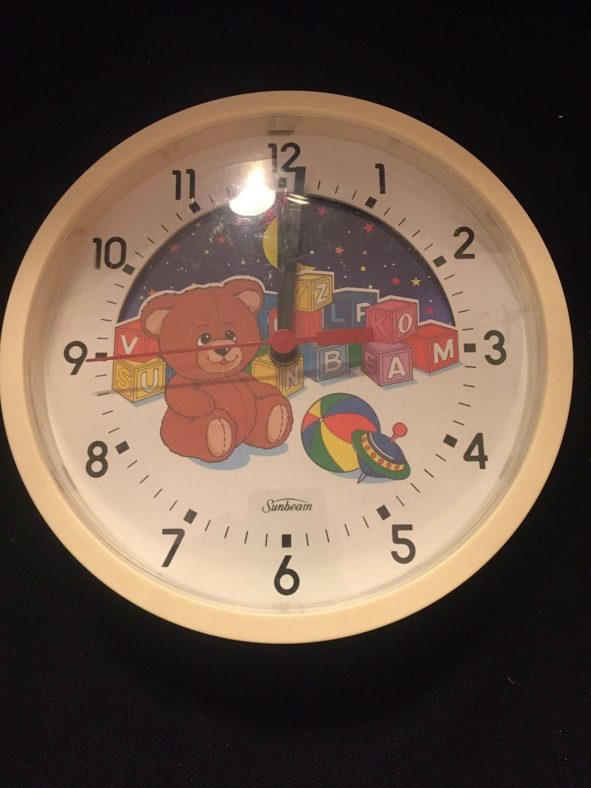 Sunbeam - Moving Picture Wall Clock - Baby Nursery Kids Room - 8.5  - $9.75