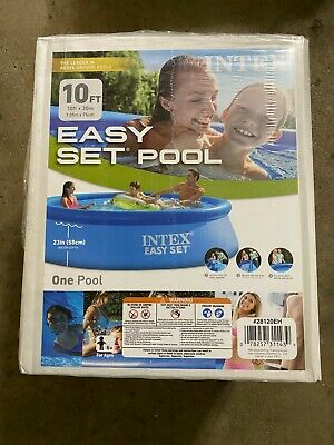 "Intex 10' x 30"" Easy Set Pool NO Filter Pump - 28120EH - In Hand"